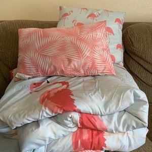 Reversible Flamingo Comforter